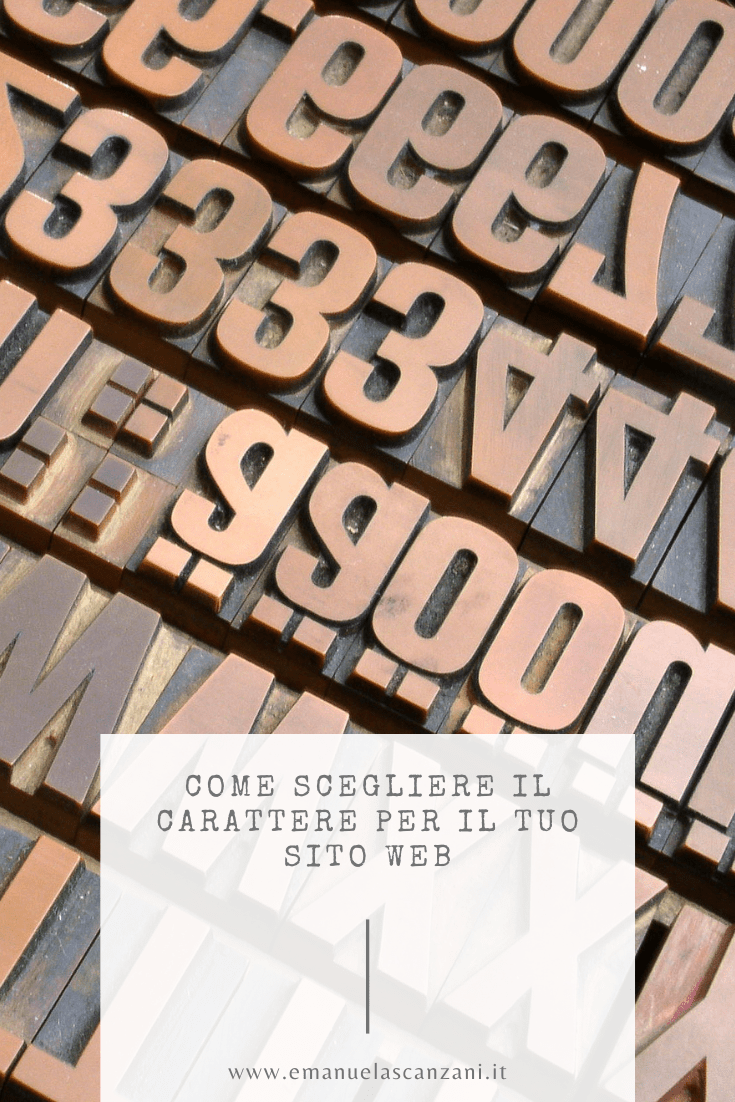 carattere tipografico