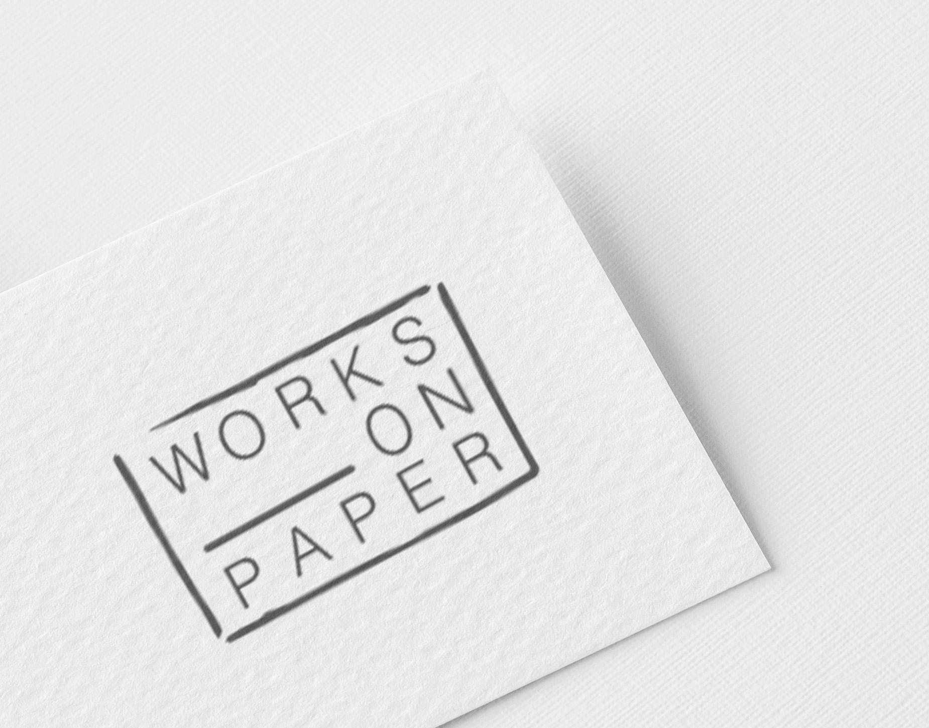 Logo Works on paper impaginato