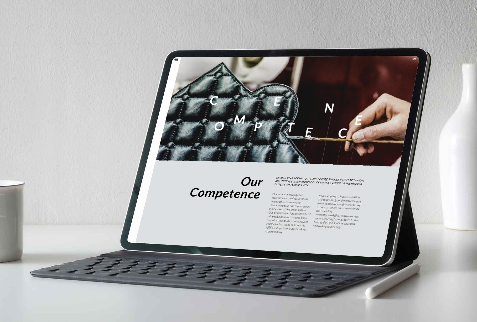 realizzazione sito web per impresa pelletteria