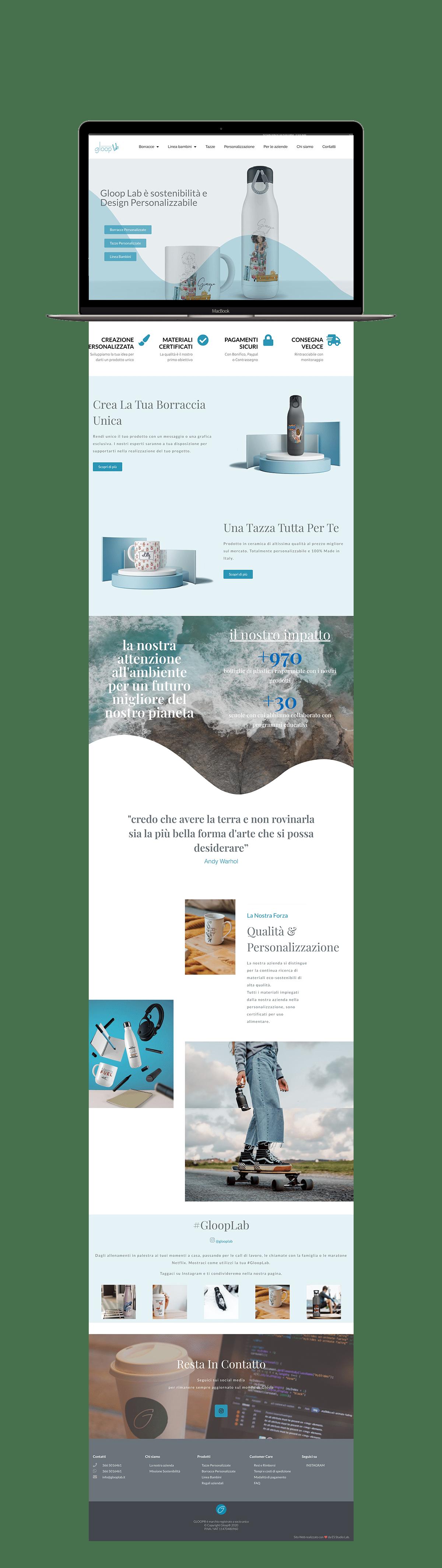 realizzazione sito web responsive per gloop lab