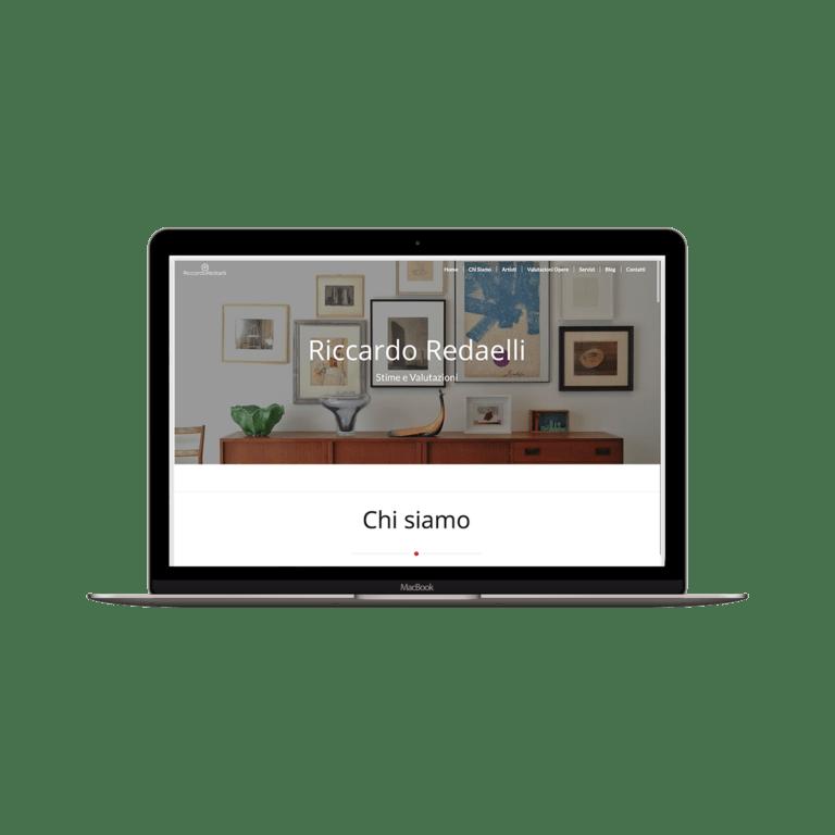 Realizzazione sito web per galleria d'arte