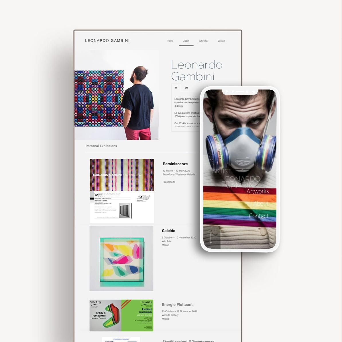 Realizzazione sito web artista - Emanuela Scanzani