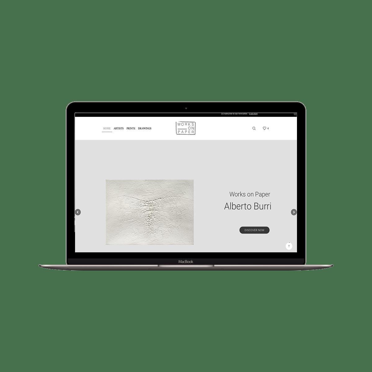 realizzazione sito commerce per galleria d'arte